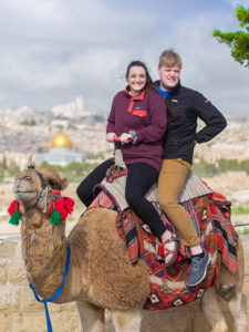 Camel ride on the Mount of Olives